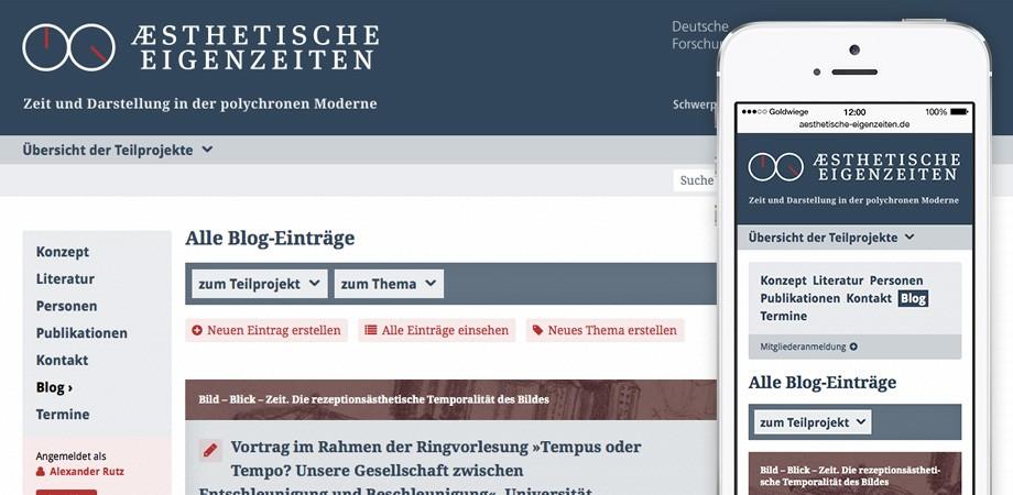Ästhetische Eigenzeiten Website