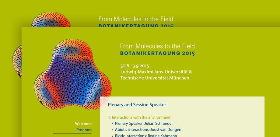 Botanikertagung 2015 in München – Corporate Design