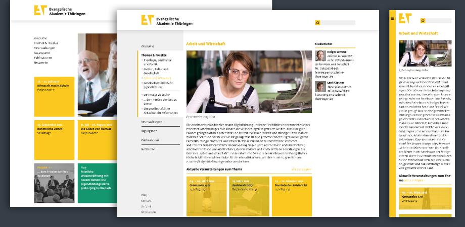 Evangelische Akademie Thüringen 2016 · Website · Webdesign