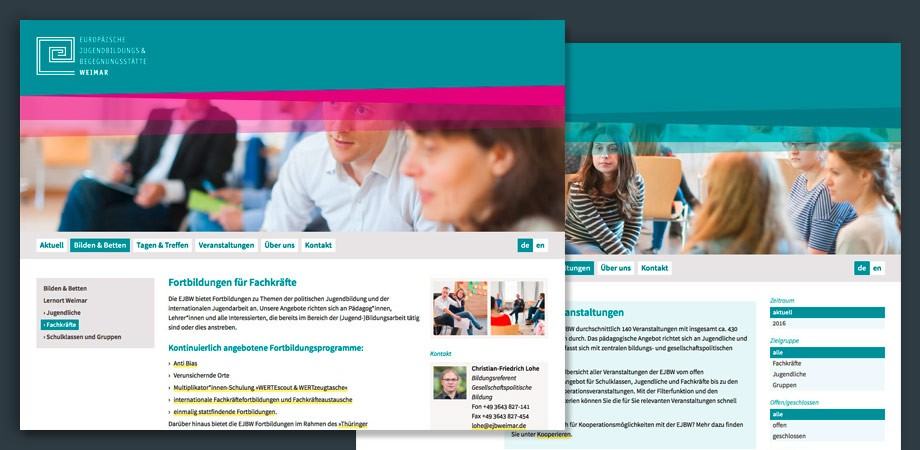 Europäische Jugendbildungs- & Begegnungsstätte Weimar – Website 2016