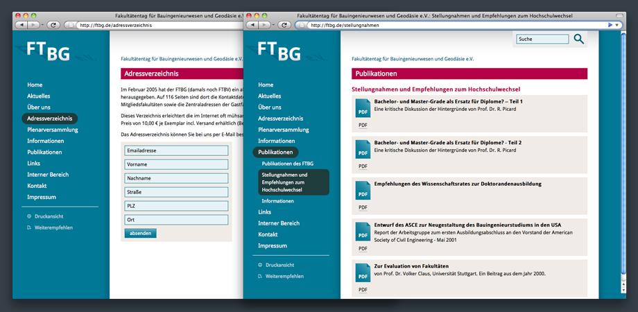 Fakultätentag für Bauingenieurwesen und Geodäsie FTBG e.V. – Website