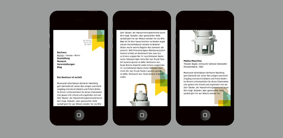 Goldwiege – Wettbewerbe ohne Zuschlag 2014 – Neues Bauhaus-Museum Weimar – mobile web