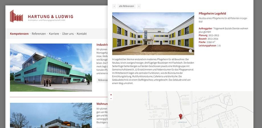 Website von Hartung & Ludwig Architektur- und Planungsgesellschaft