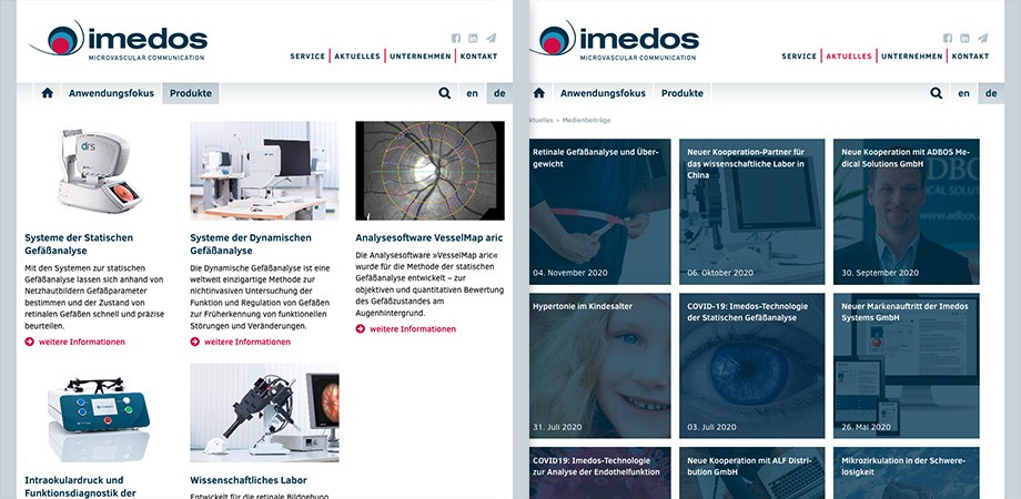 Imedos 2020 Website