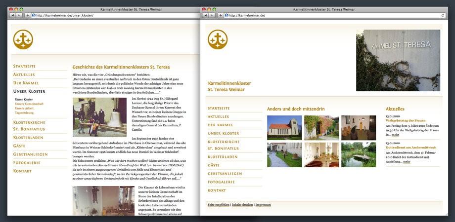 Kloster Karmel – Website