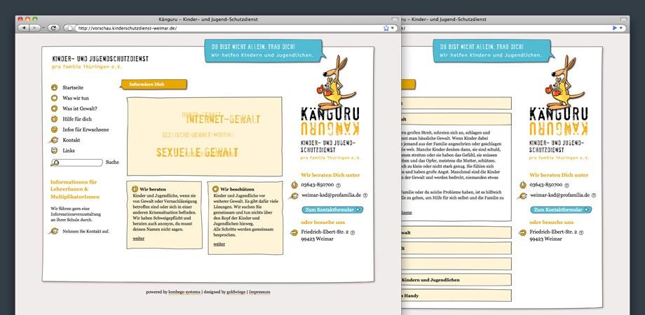 Kinder- und Jugend-Schutzdienst Weimar – Website