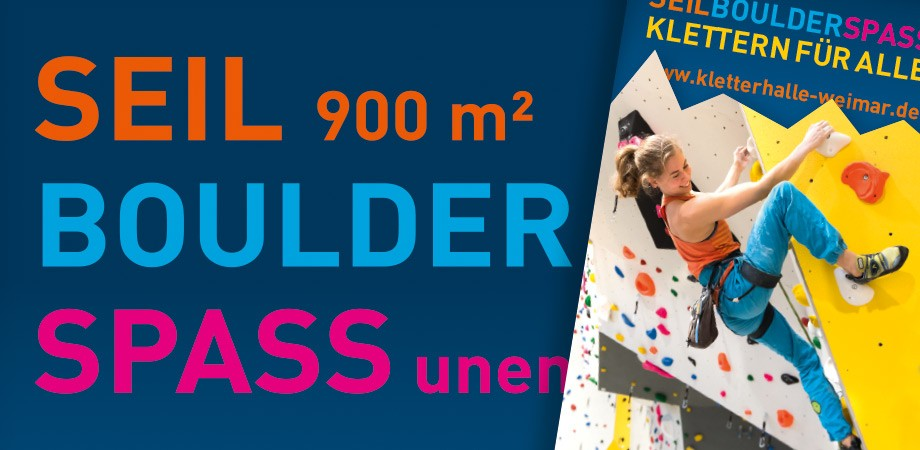 SEIL BOULDER SPASS in der Kletterhalle Weimar – Corporate Design