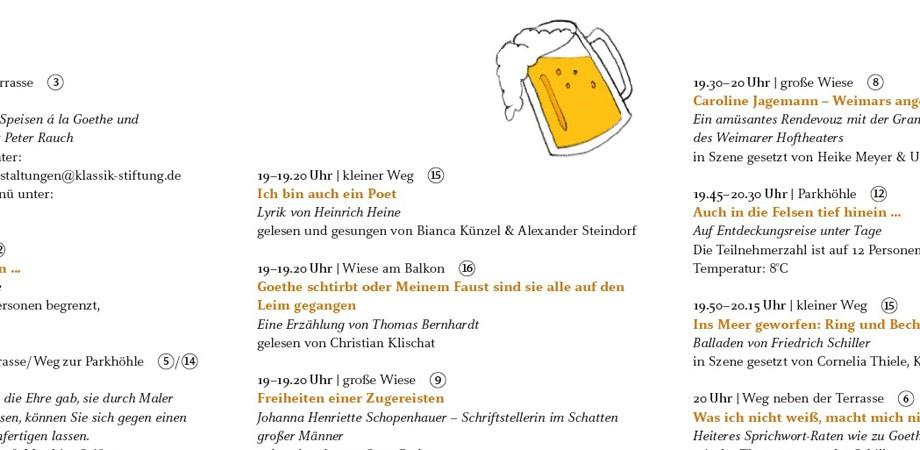 Flyer-Detail für Goethe-Geburtstag 2013