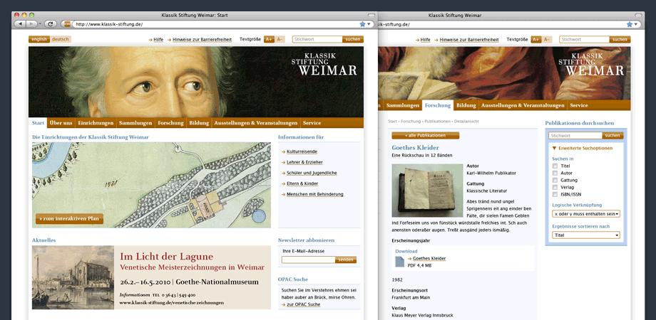 Klassik Stiftung Weimar – Website