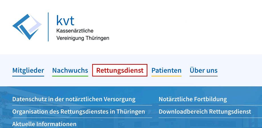 Kassenärztliche Vereinigung Thüringen · Goldwiege · Webauftritt