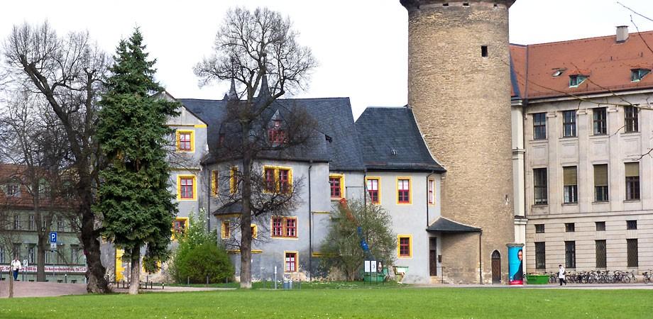 Liszt-Säule am Stadtschloss Weimar