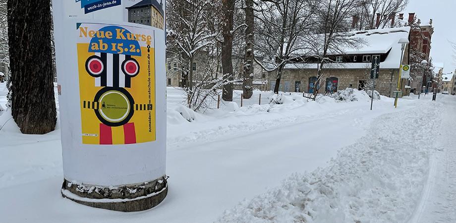 Malschule Weimar 2021 · Plakatkampagne · Goldwiege