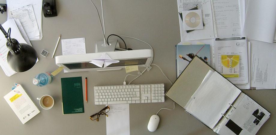 Melissas Schreibtisch