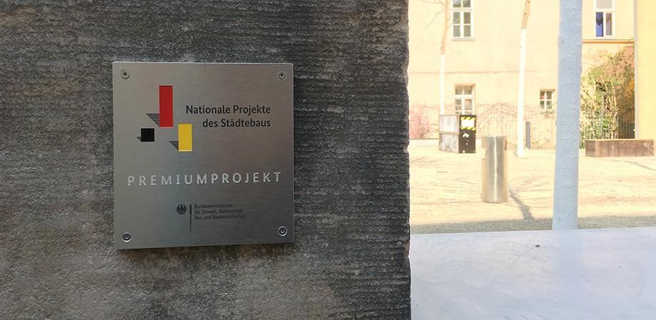 NPS-Plakette in Weimar · Goldwiege 2019
