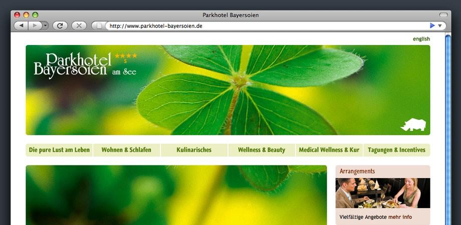 Website Parkhotel Bayersoien
