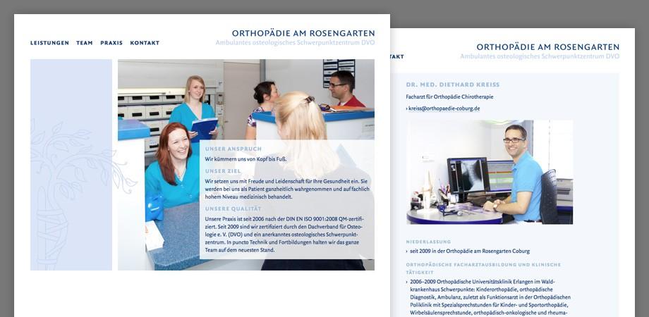 Praxis Orthopädie Website