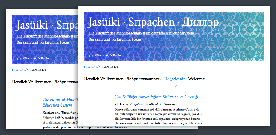 Fremdsprache in Deutschland 2016 · Russisch · Türkisch