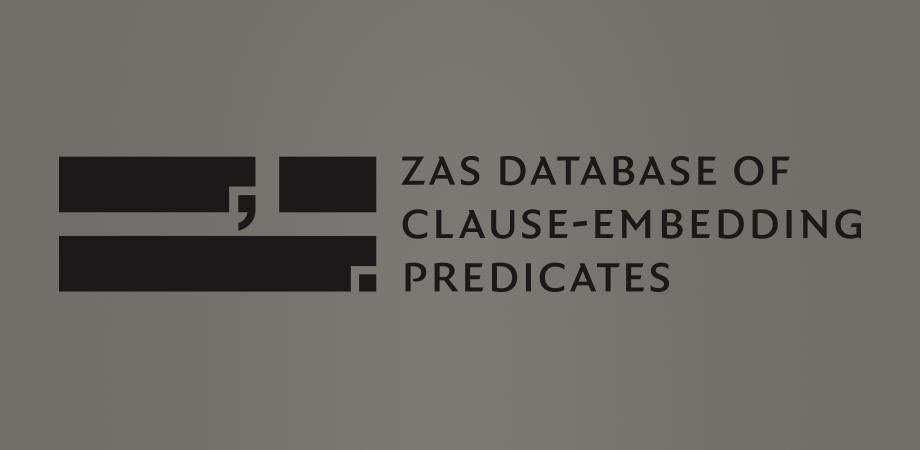 ZAS database of clause-embedding predicates